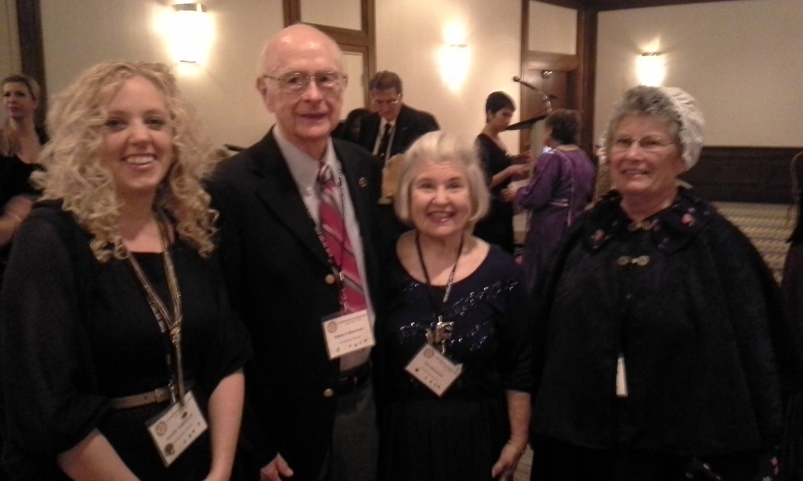 100th Anniversary UELAC Conference. Toronto, ON. June 2014. L-R: Jennifer DeBruin, Robert and Sarah Memmet, Lorraine Reoch